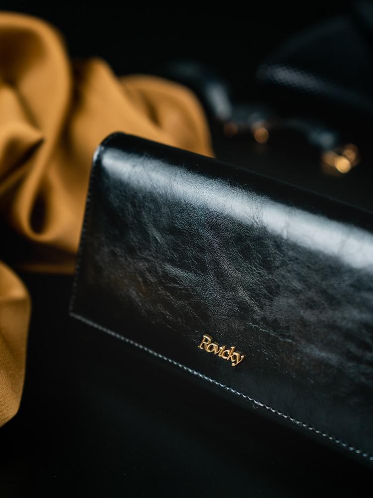 Klasická dámská kožená peněženka Ruby, černá