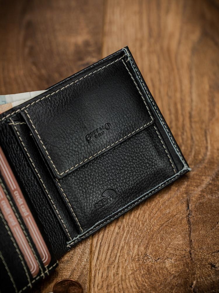Pánská kvalitní kožená peněženka Glen, černá
