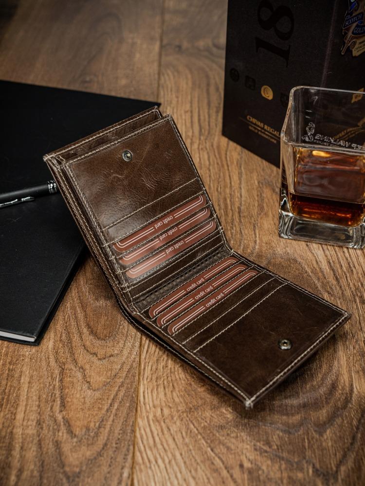 Pánská peněženka z přírodní kůže Trevor, hnědá