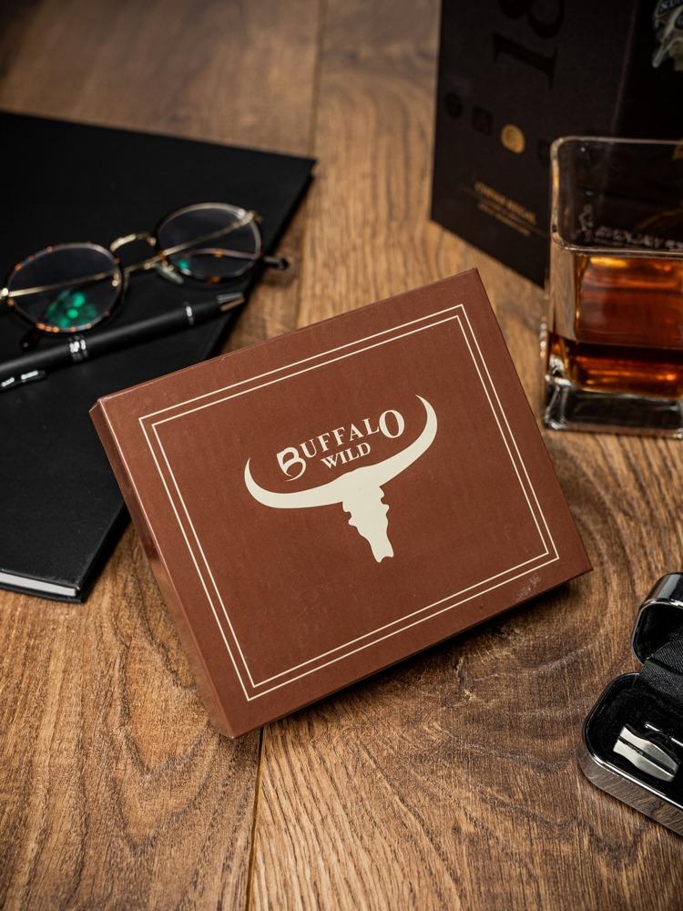 Kožená pánská peněženka Buffalo Wild, světle hnědá