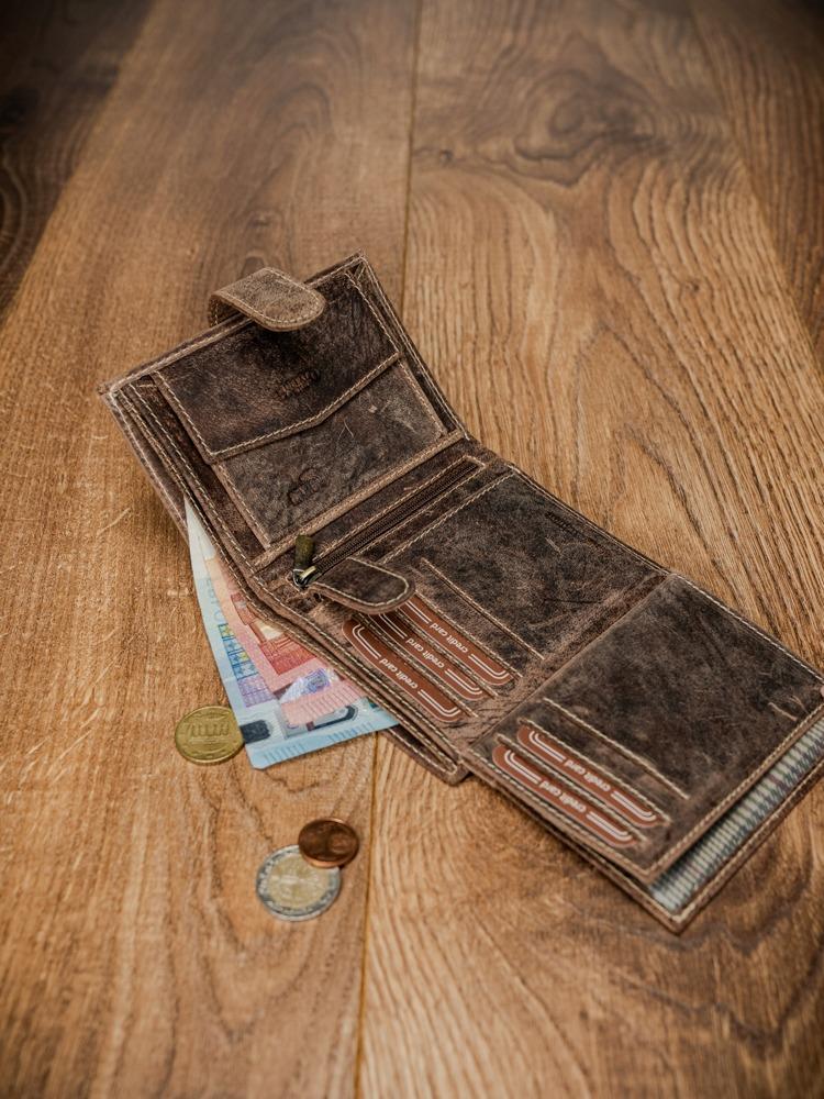 Praktická pánská kožená peněženka Tron, světle hnědá