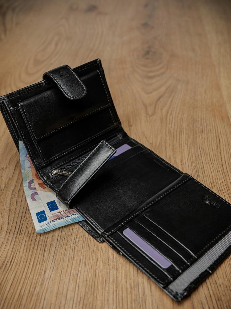 Luxusní pánská kožená peněženka André P.černá