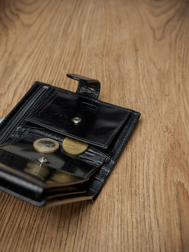 Luxusní pánská kožená peněženka s přezkou Randy, černá