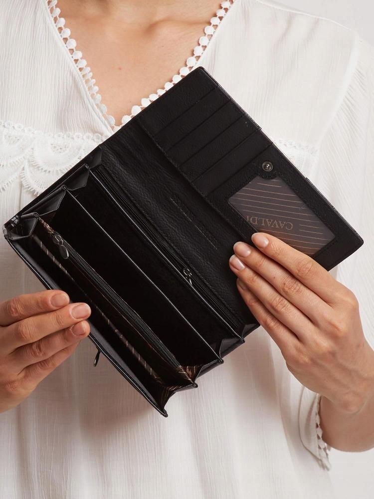 Kožená lakovaná peněženka Shirley, zlatá