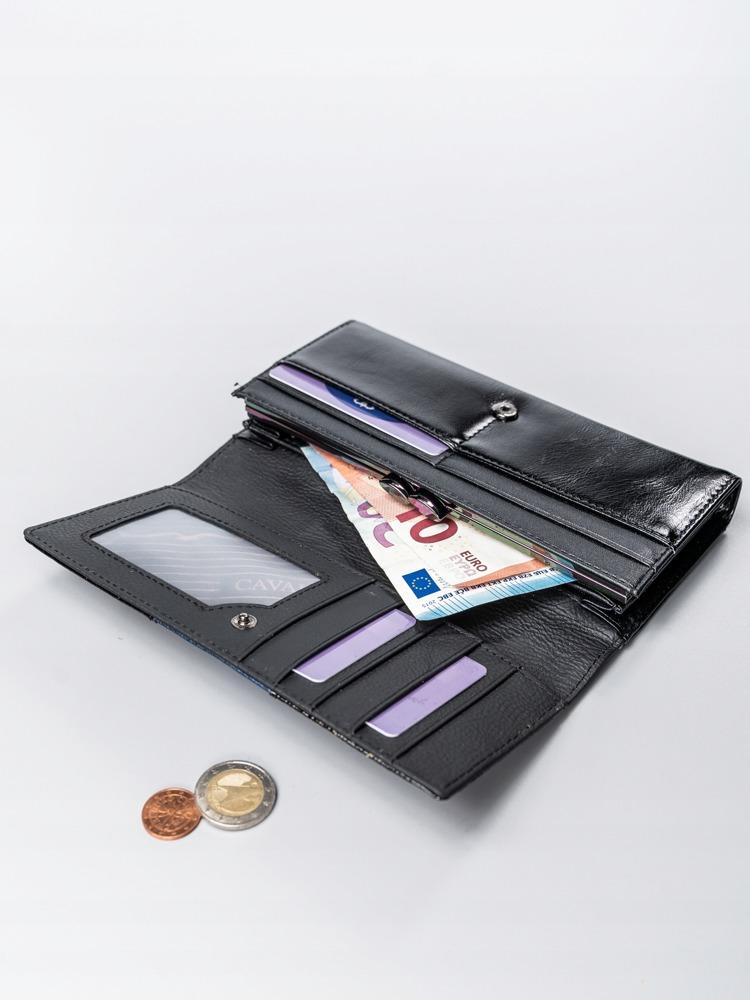 Exkluzivní lakovaná kožená peněženka Gita, modrá