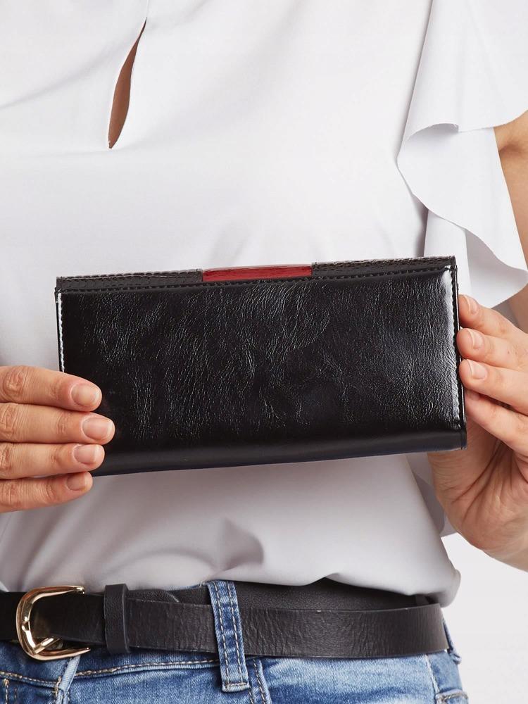 Exkluzivní lakovaná kožená peněženka Gita, tmavě červená