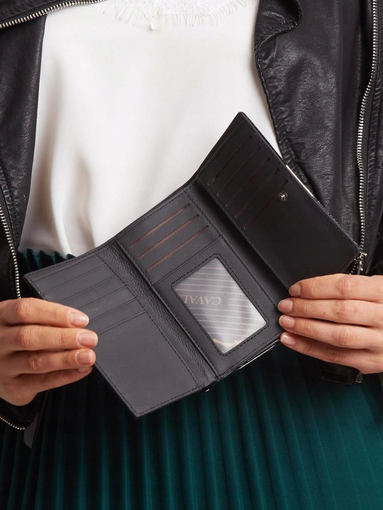 Moderní kožená lakovaná peněženka Tuly, zlatá