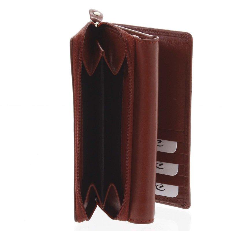 Praktická peněženka z kůže Ava, červená