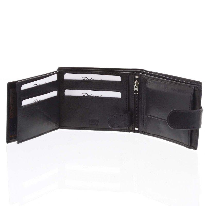 Pánská Delami kožená peněženka Joel, černá