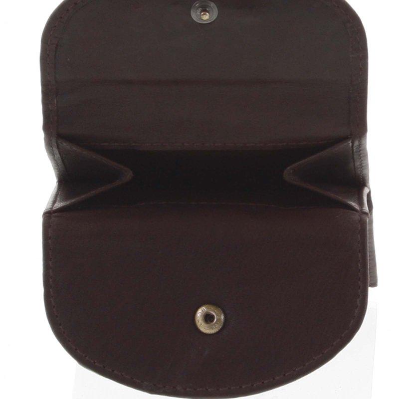 Malá kožená peněženka Enrique, hnědá
