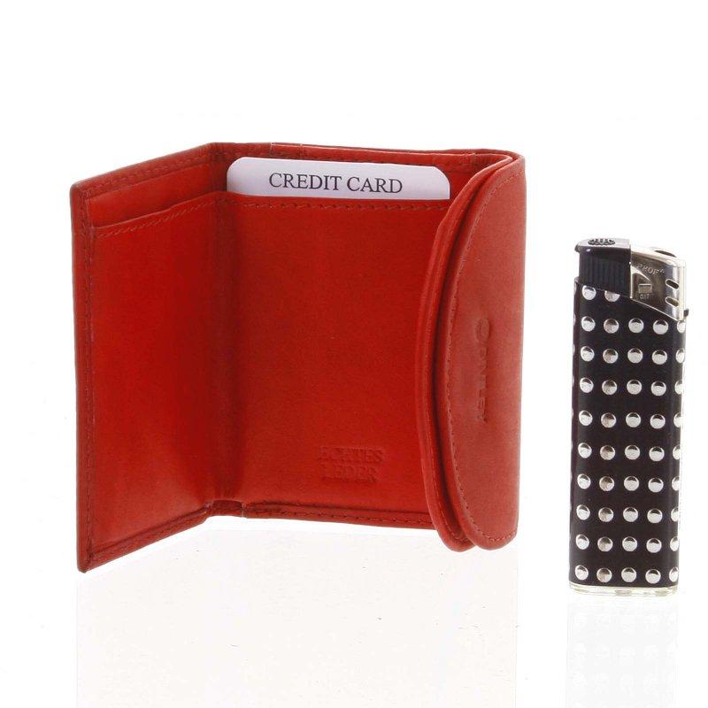 Malá kožená peněženka Calíope, červená