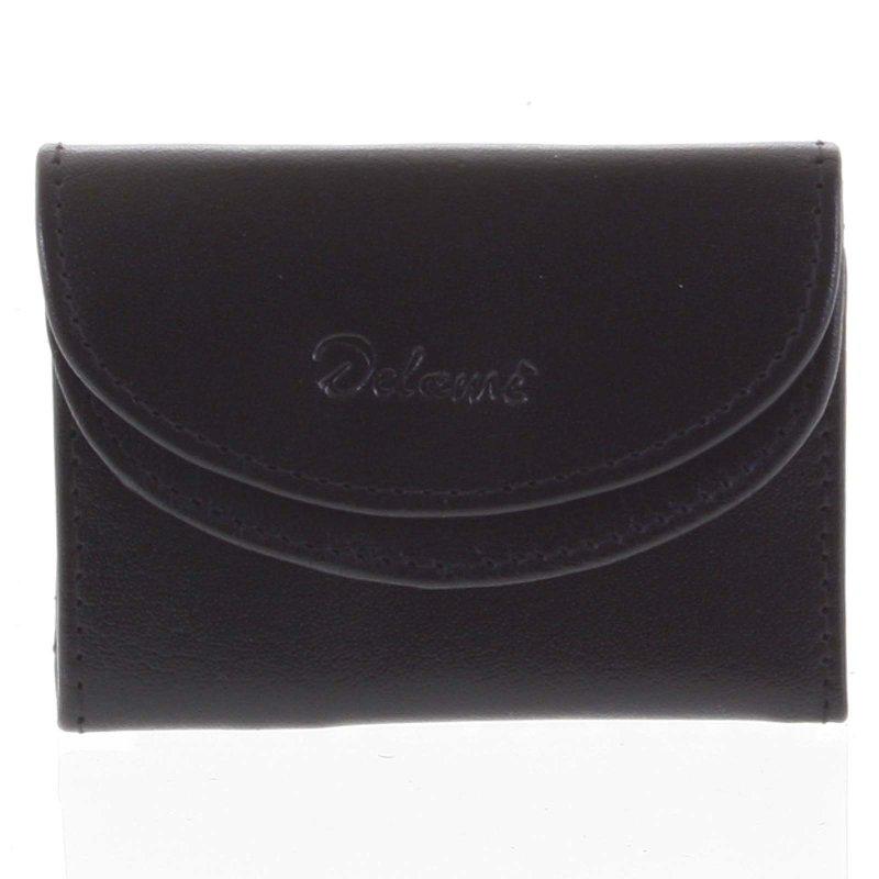 Malá pánská kožená peněženka Enrique, černá