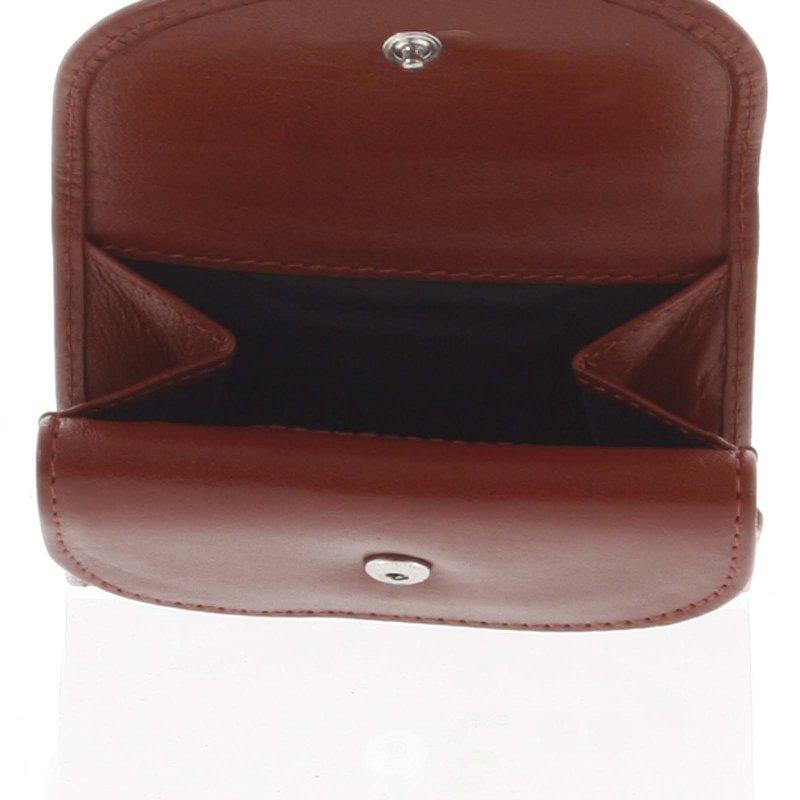 Malá kožená peněženka Enrique, červená