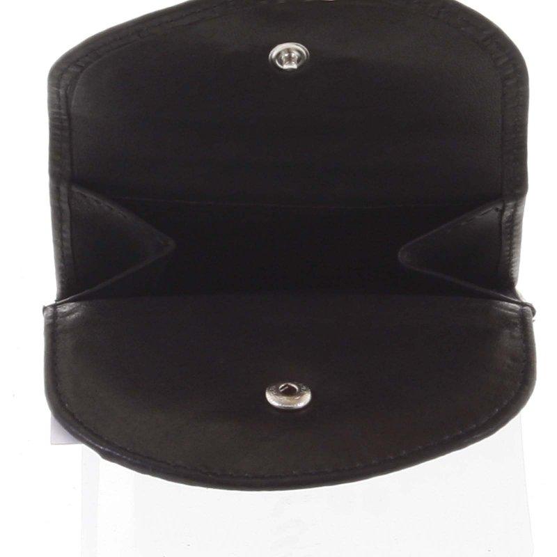 Kožená malá panská peněženka Fabio, černá
