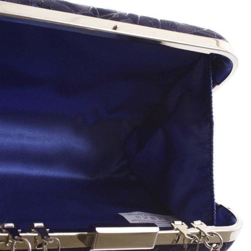 Módní pevné dámské psaníčko Alexia, tmavě modré