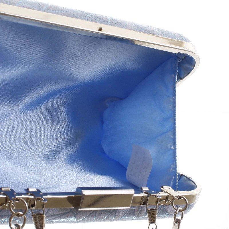 Módní pevné dámské psaníčko Alexia, světle modré