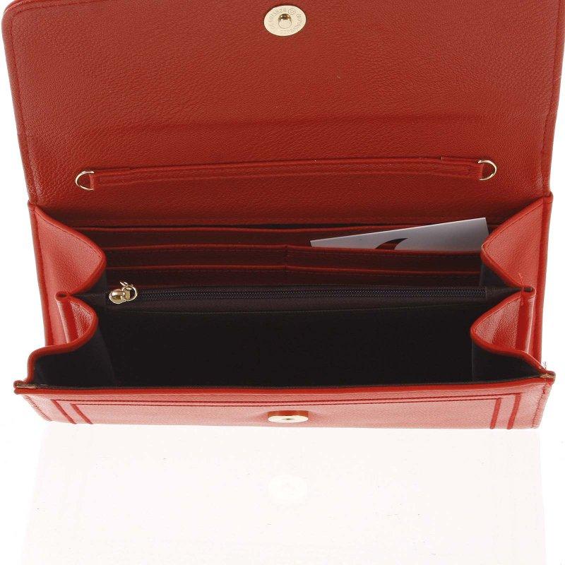 Dámské luxusní psaníčko Sandra, červené