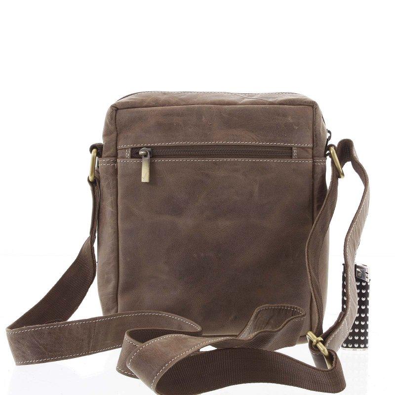 Pánská kožená taška s překlopem Timoteo světle hnědá