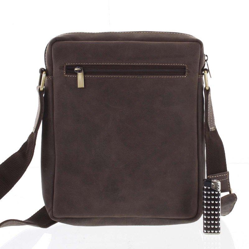 Praktická kožená taška Always WILD Jacobo, hnědá