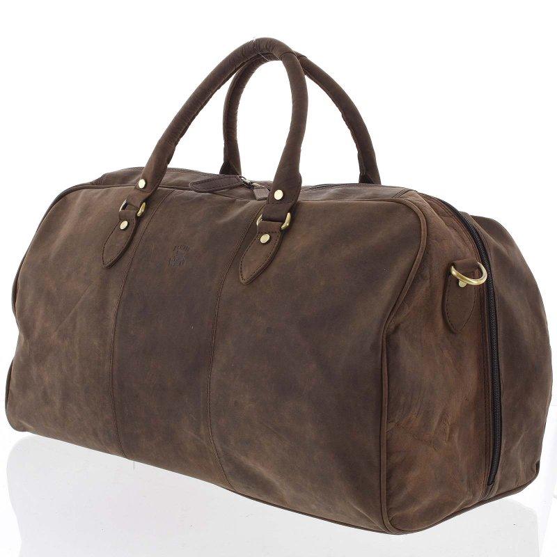 Stylová kožená cestovní taška Bosco hnědá