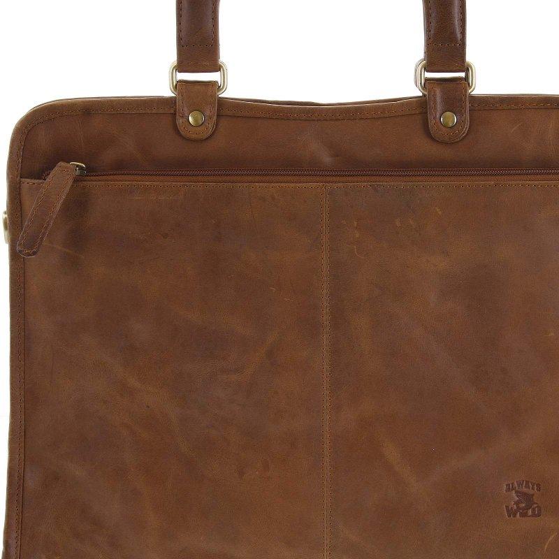 Pracovní pánská kožená taška na doklady Verdiana hnědá