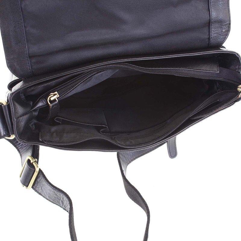 kožená pánská taška s menším překlopem Guisto černá