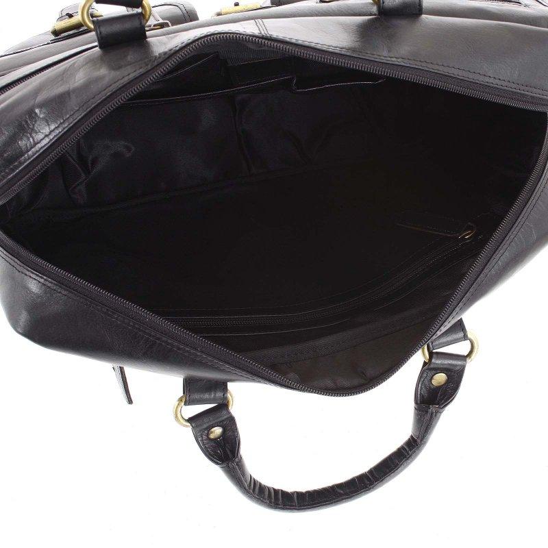 Pánská kožená pracovní taška Aldo černá