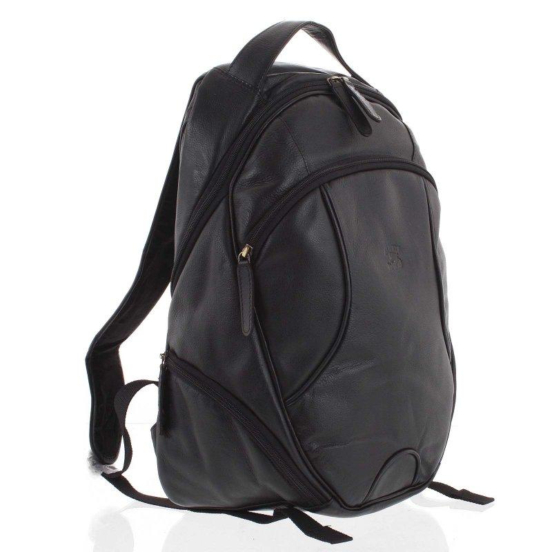 Pánský kožený batoh Igino černý