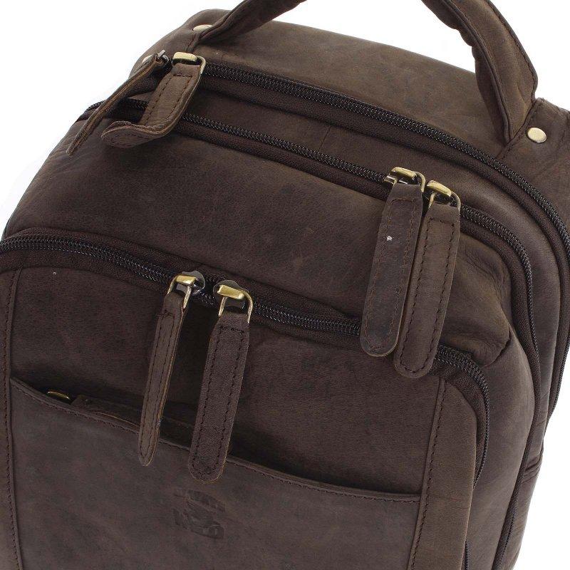 Pánský kožený batůžek Basilio hnědý