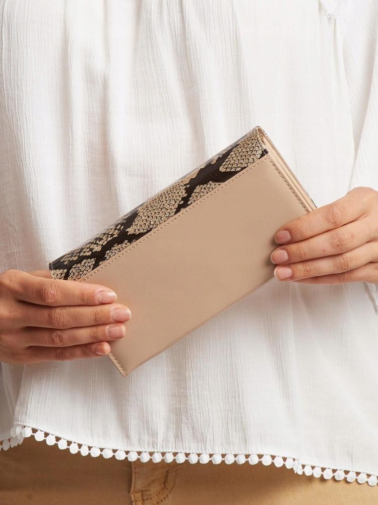 Exkluzivní kožená lakovaná dámská peněženka Lora, zlatá