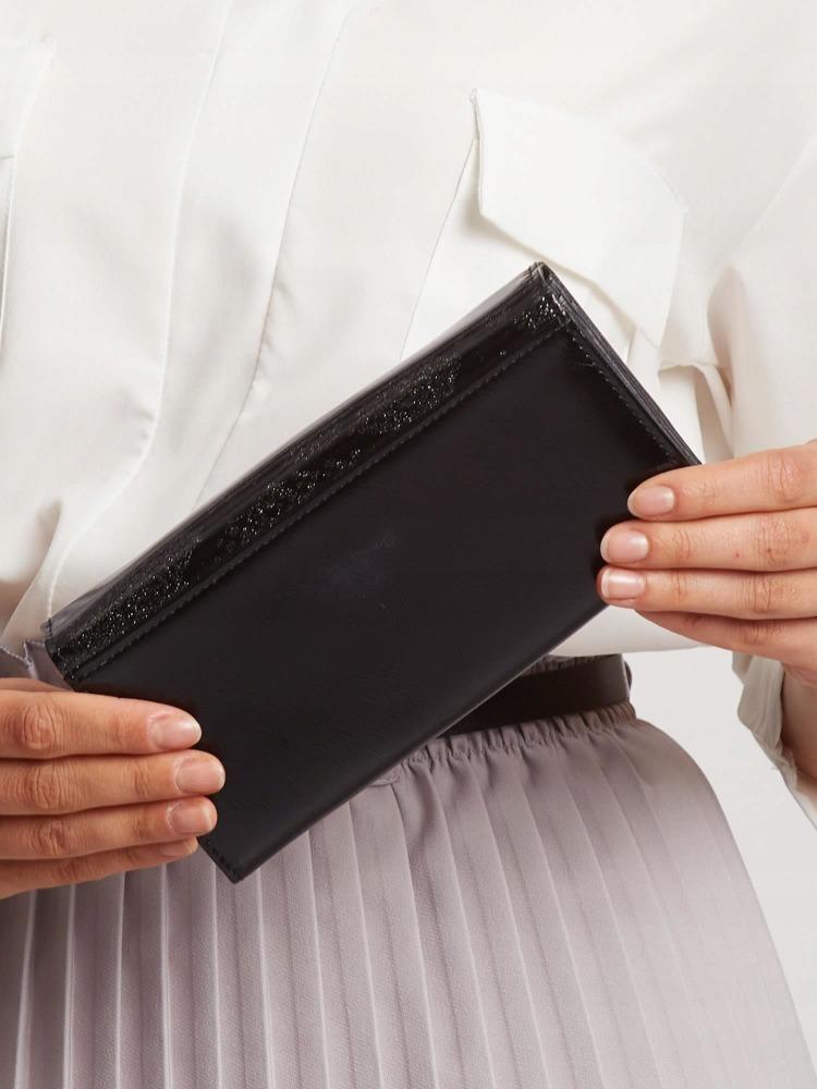Exkluzivní kožená lakovaná dámská peněženka Lora, černá