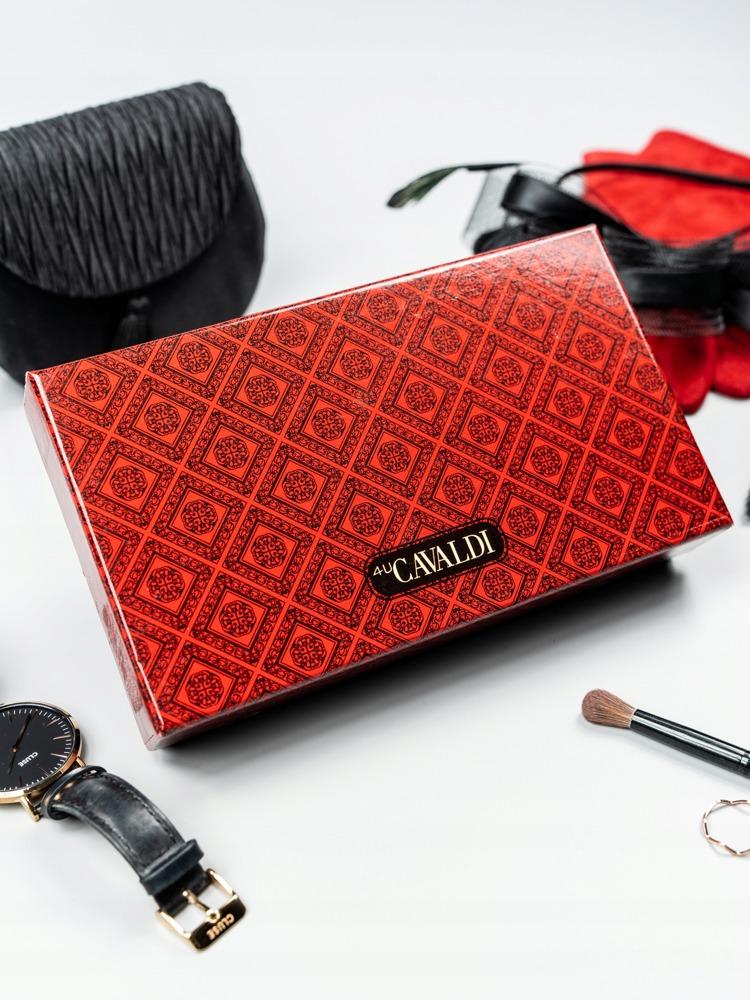 Luxusní kožená lakovaná peněženka Luisa, červená