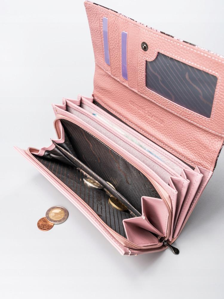 Luxusní kožená lakovaná peněženka Luisa, růžová