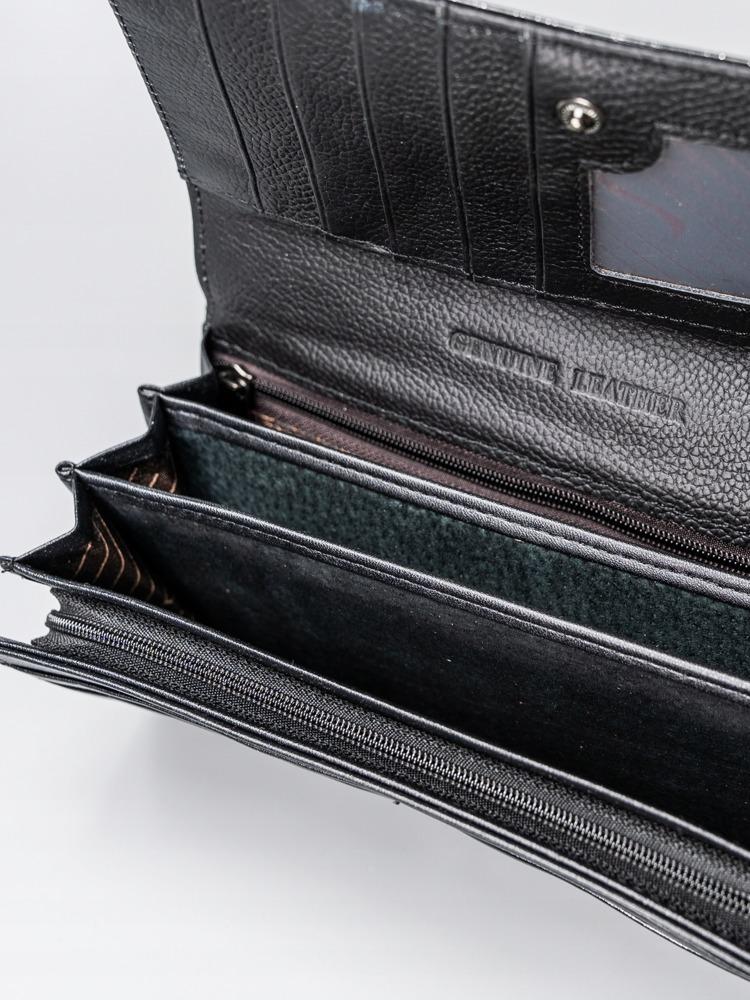 Luxusní kožená lakovaná peněženka Luisa, černá