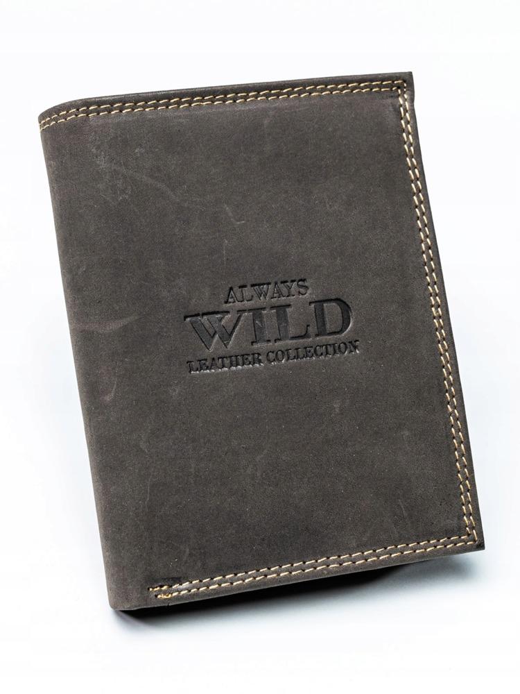 Exkluzivní pánská kožená peněženka Nate, hnědá
