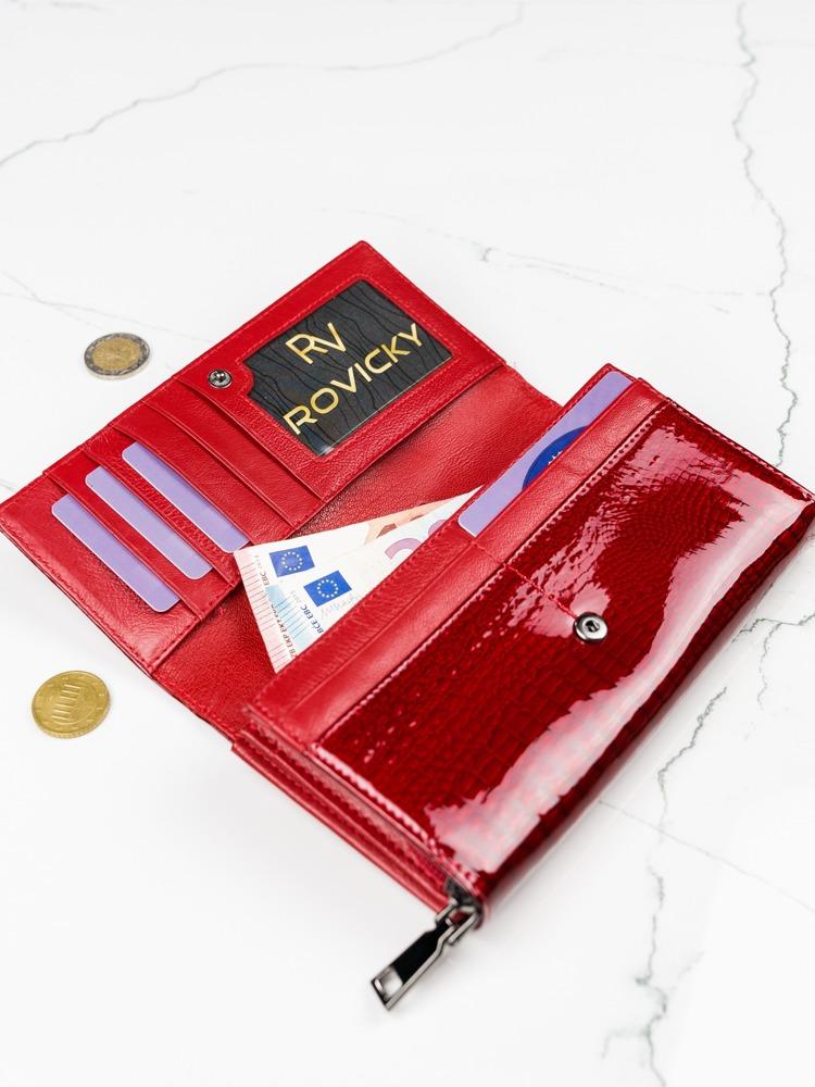 Atraktivní kožená peněženka Georgia červená