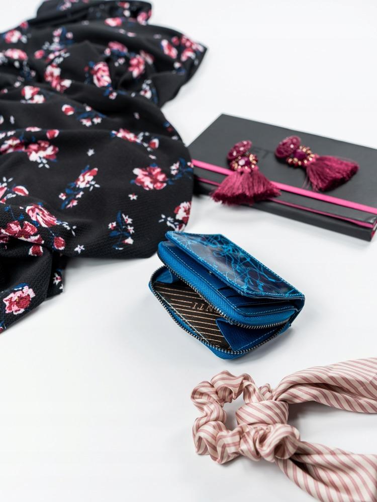 Malá modrá kožená peněženka Lorenti