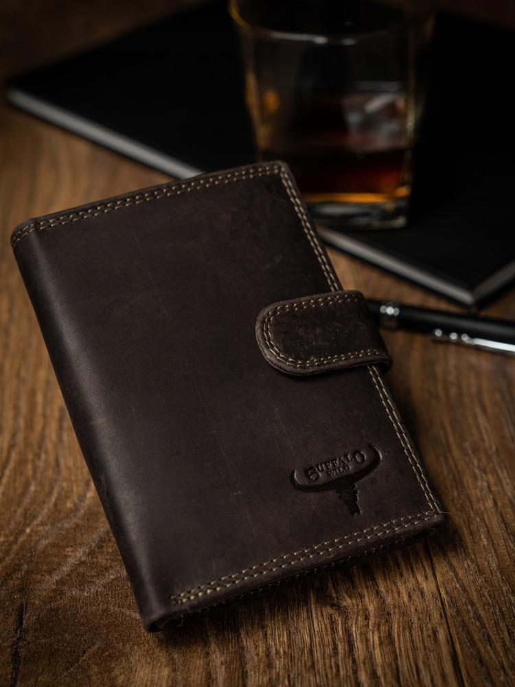 Kožená pánská peněženka Fil, hnědá
