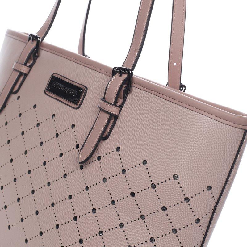 Velice módní kabelka Pierre Cardin Avril, růžová