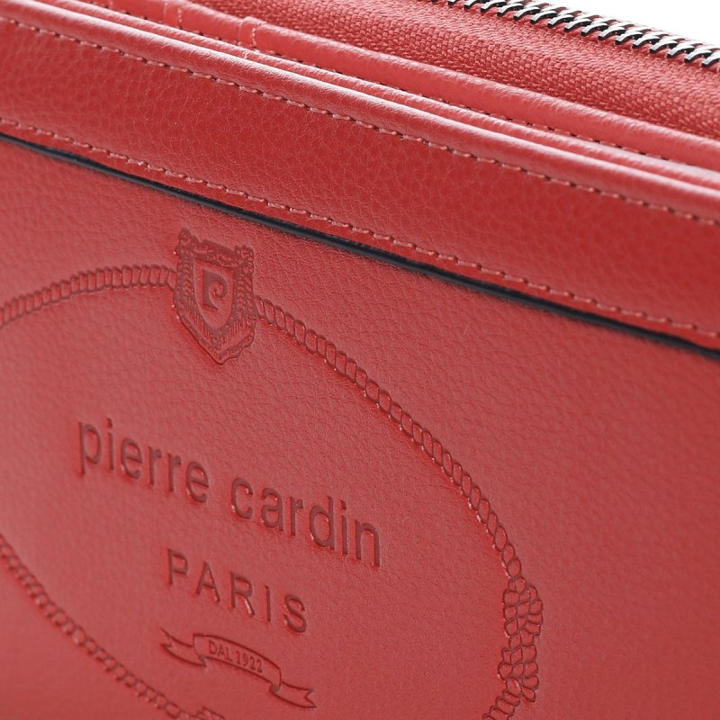 Velká dámská koženková peněženka Maria Goretti červená