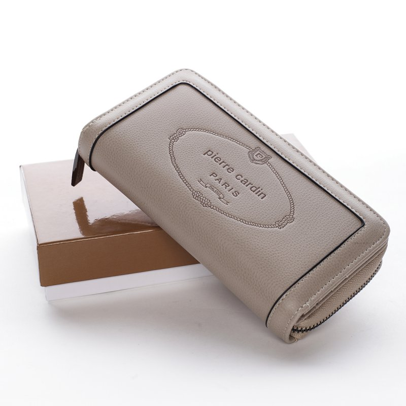 Velká dámská koženková peněženka Maria Goretti béžová