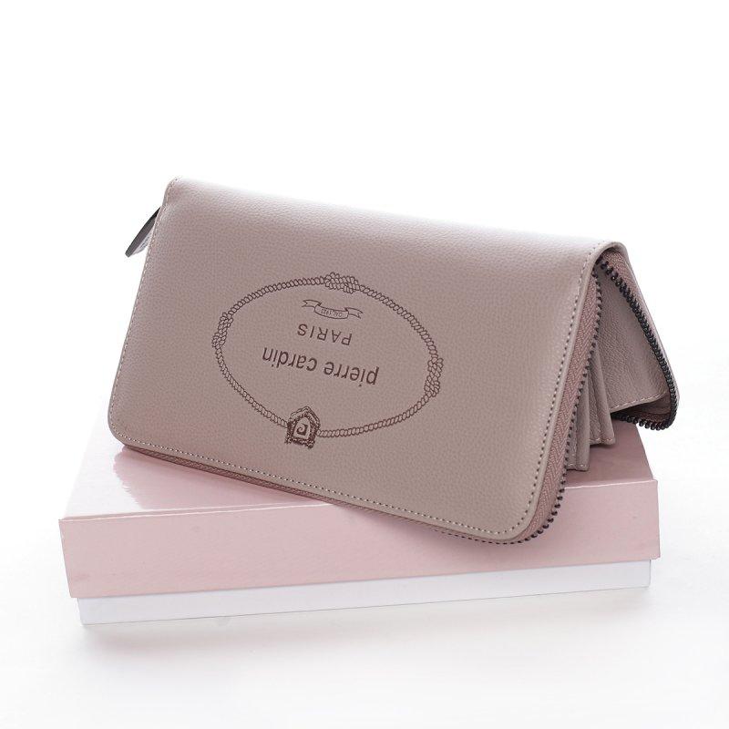 Dámská koženková peněženka Clotilde růžová