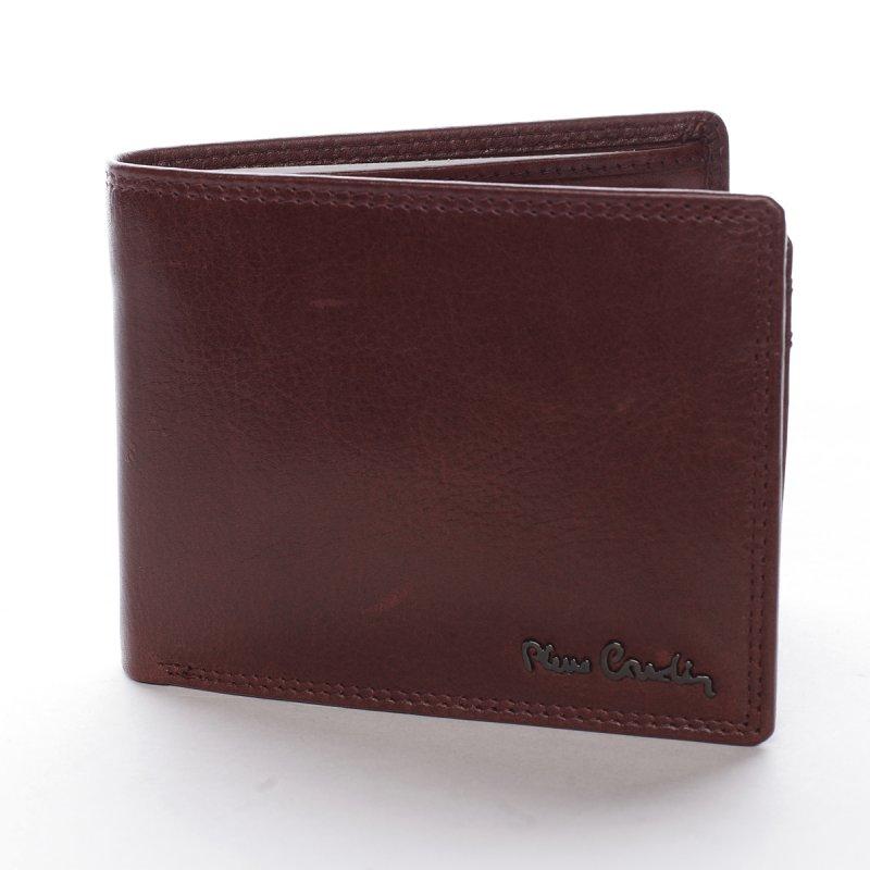 Leská pánská kožená peněženka Pammachio bordó