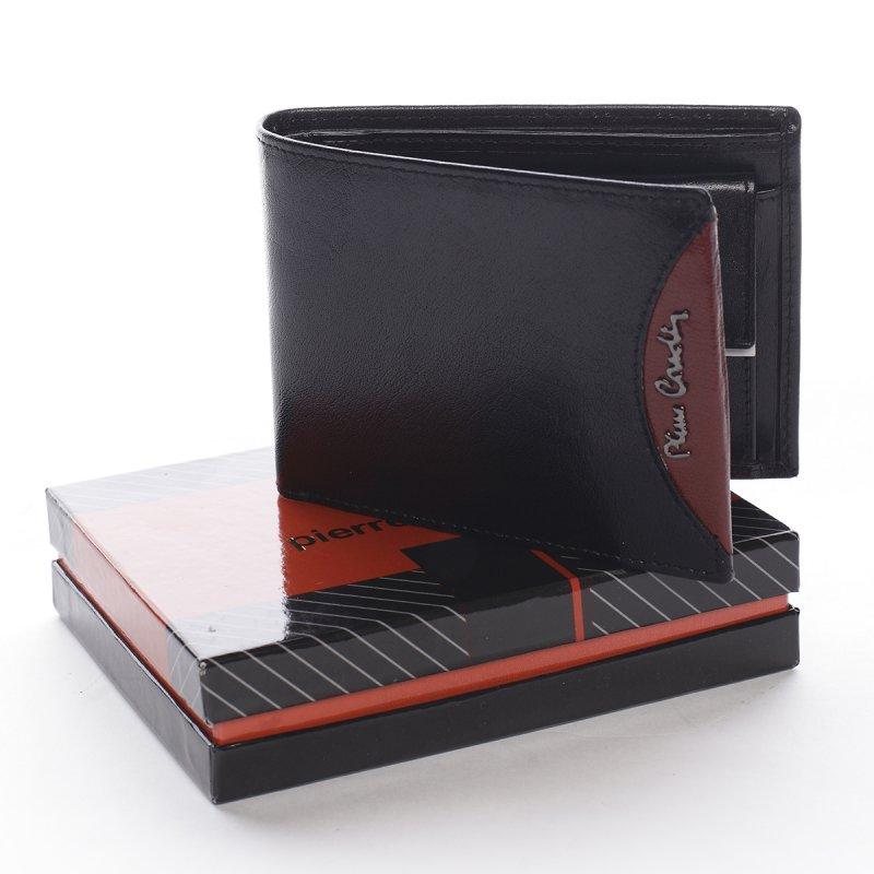 Módní pánská kožená peněženka Alessandro černá/vínová