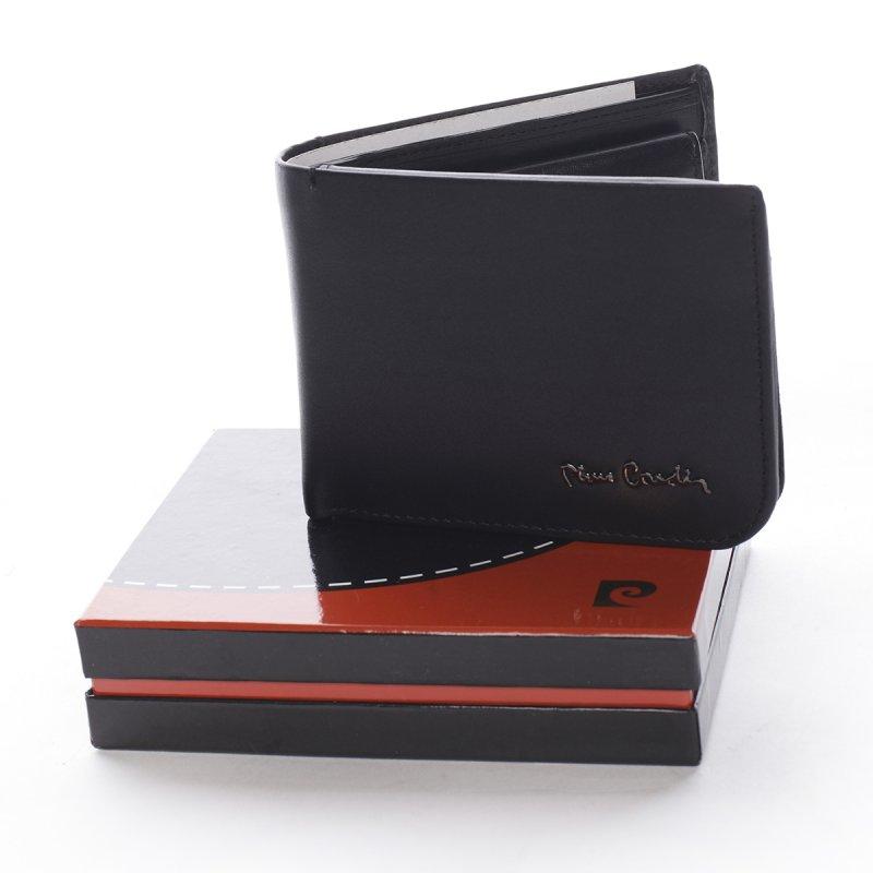 Pánská kožená peněženka s prošíváním Ludovico černá
