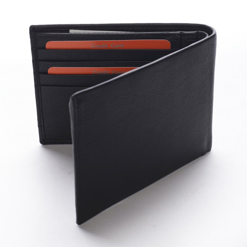 Klasická pánská kožená peněženka Pio černá
