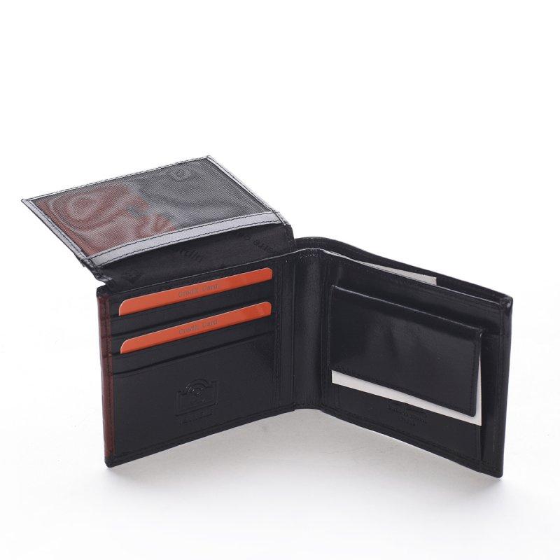 Pánská kožená peněženka Giovanni černá/vínová