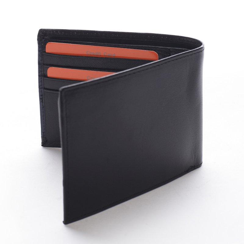Nepřehlédnutelná kožená pánská peněženka Stefano černá/modrá