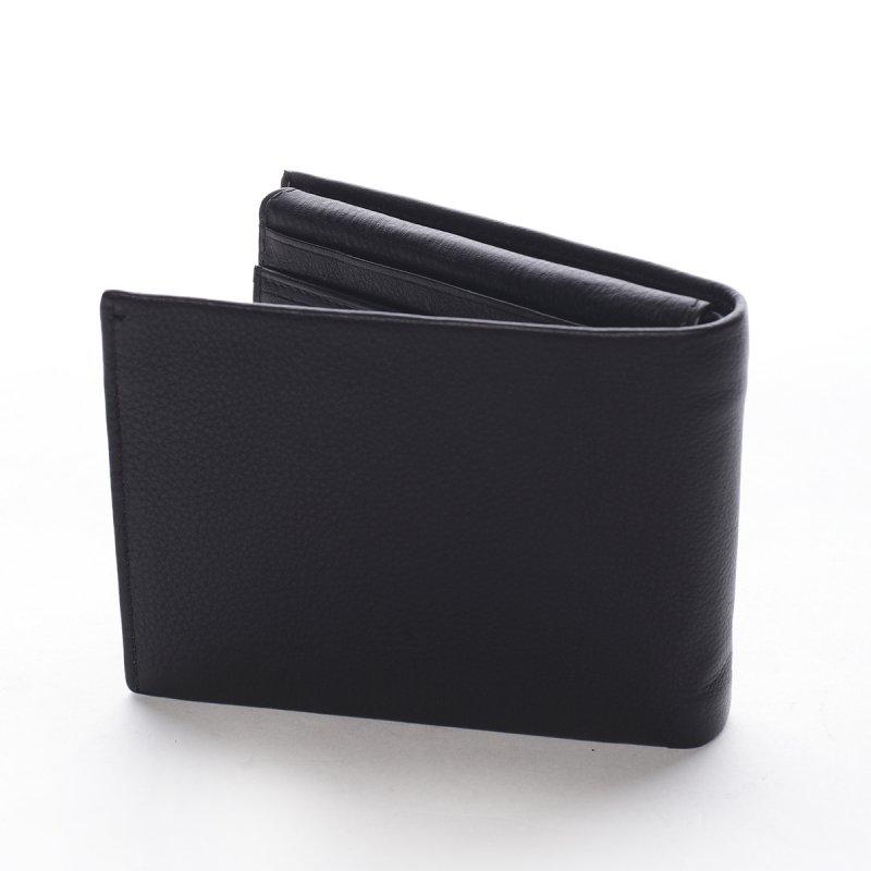 Pánská kožená peněženka Ercolano černá/červená
