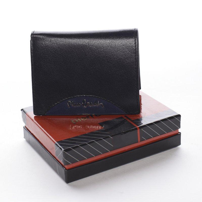 Nepřehlédnutelná pánská kožená peněženka Domenico černá/modrá
